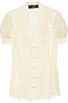 chloe lace front blouse