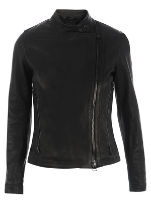 Dacute black leather jacket