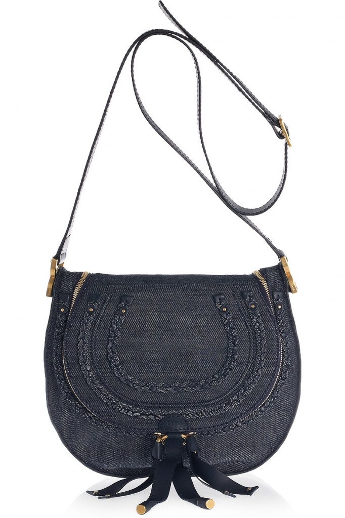 Chloe amrcie denim and leather not standing
