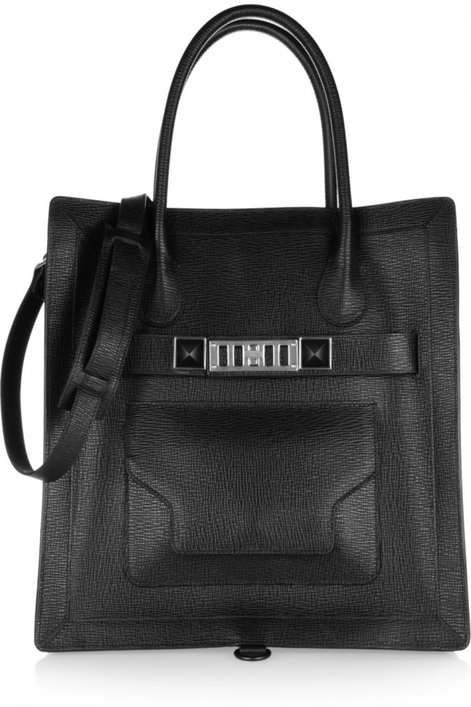 PS11 textured leather tote