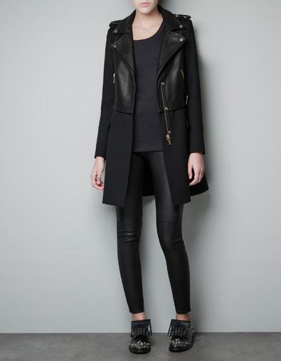 zara leather biker coat