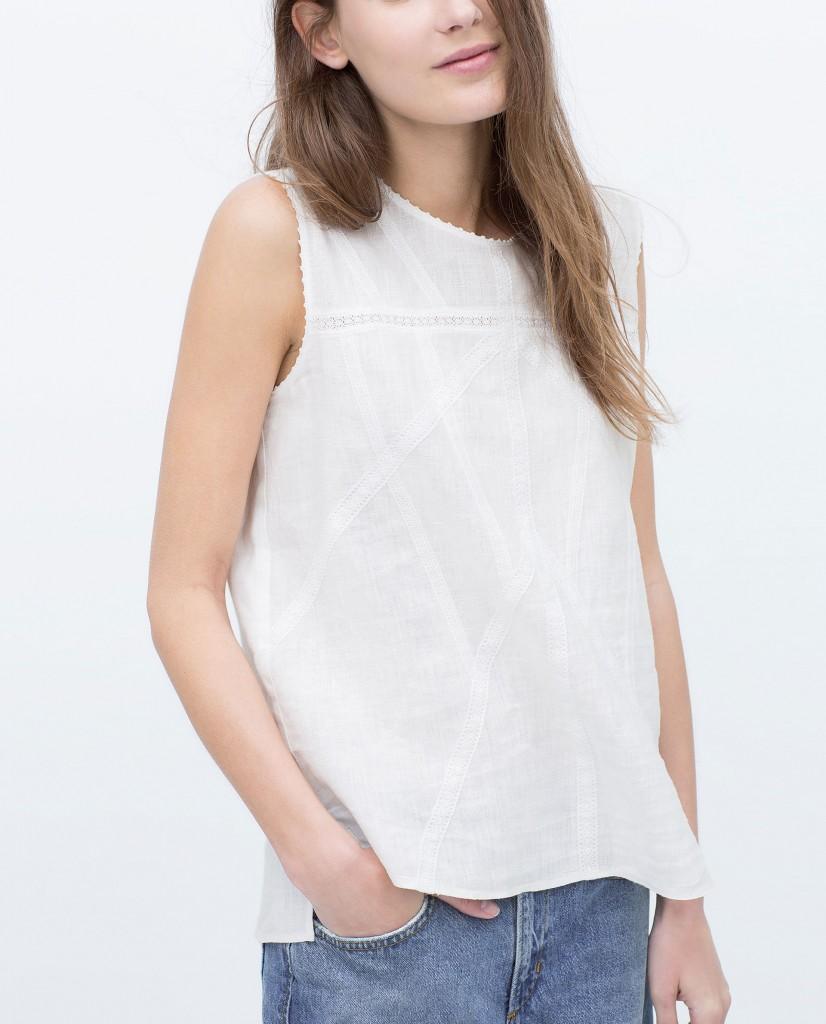 white linen zara